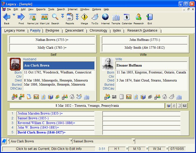 genealogia software: