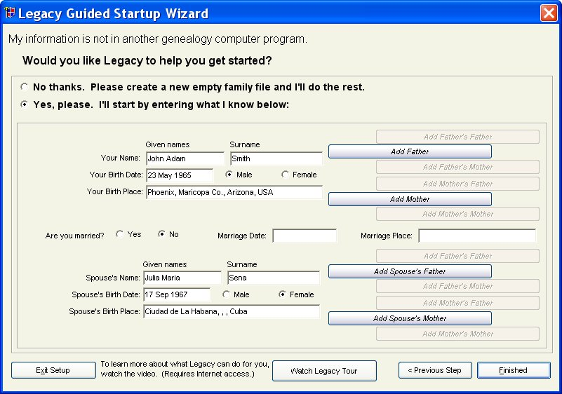 Large Welcome Screen
